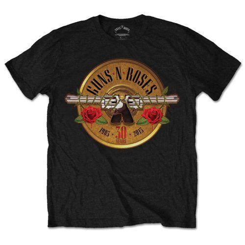 Guns N Roses  30th Logo T-Shirt - NEU UND OFFIZIELL