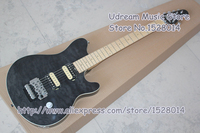 High Quality Black Quilted Finish Suneye Wolfgang AXIS Electric Guitar With Chrome Hardware LP SG Guitar Avaialable