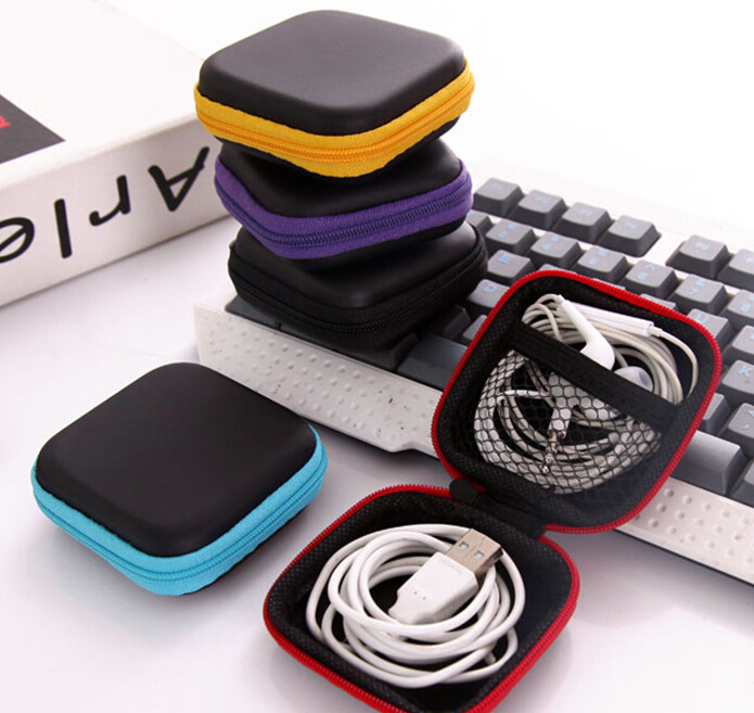 Earphone Box Data Lines Cables Storage Box Jewelry Container Organizer Coin Purse Box