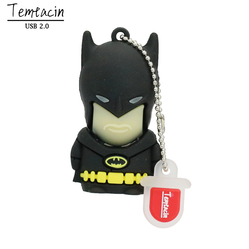 Super Hero USB 2.0 USB Flash Drive Batman PenDrive Pen Drive 16G 32G 64G Iron Man Flash Disk USB Drive U Disk Thumb Drive