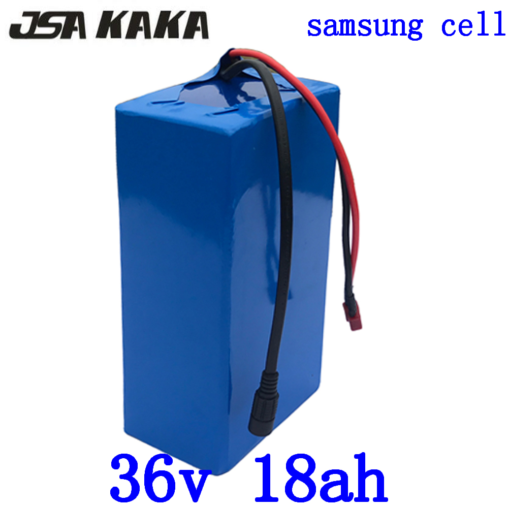 36V electric bike battery 36V 18AH battery pack 36V lithium battery use samsung cell with 2A charger for 36V 500W 1000W motor