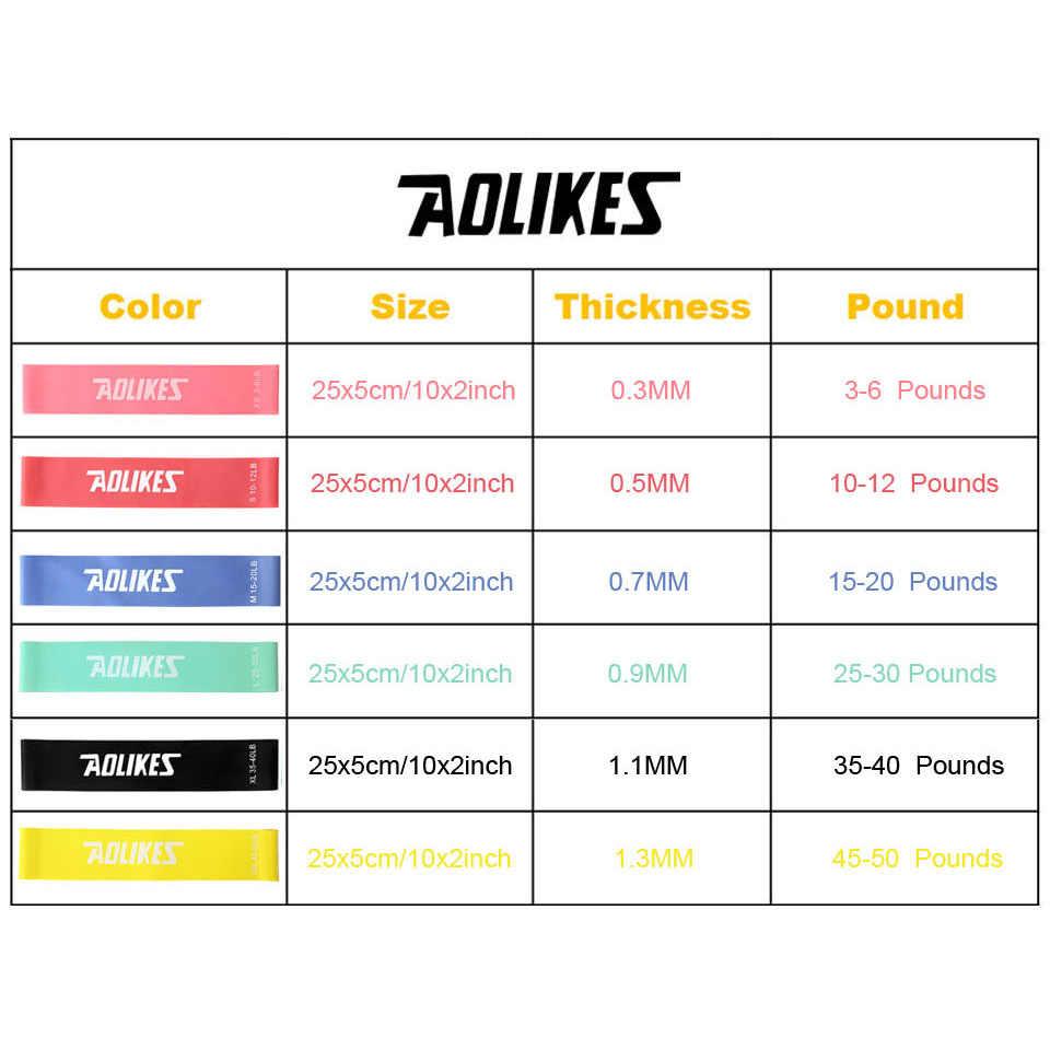 AOLIKES 1 sztuk odporność na zespół 6 poziomów dostępnych lateksowe na siłownię trening siłowy gumowe gumy do ćwiczeń sprzęt fitness do crossfitu