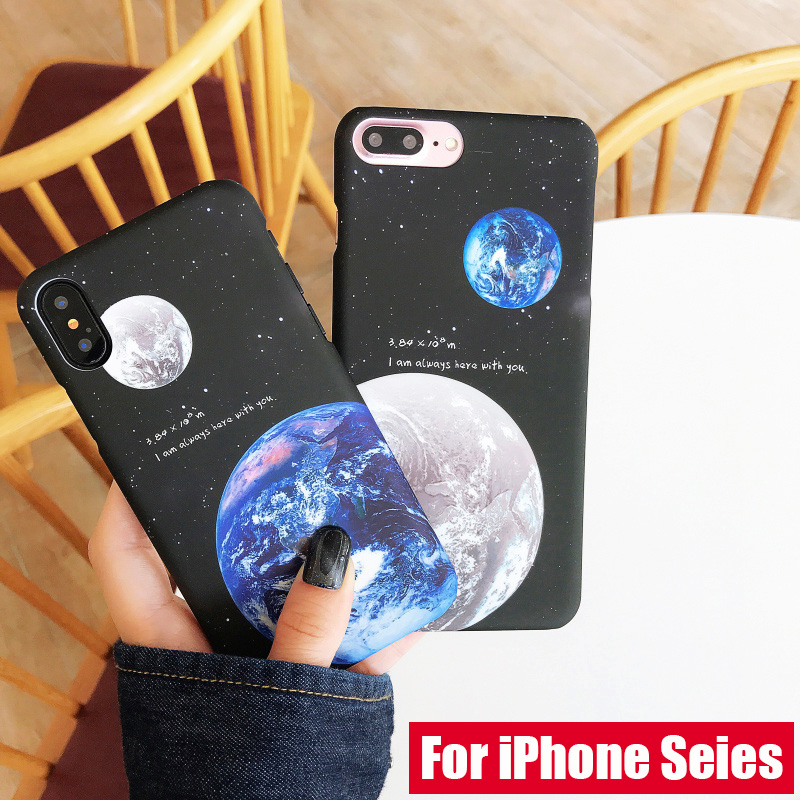 KIP7P1253_1_JONSNOW Phone Case For iPhone 6 6S 7 8 Plus Earth Planet Starry Sky Patterns PC Hard Case for iPhone X XR XS Max Back Cover Capa Fundas