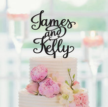 Personalized Wedding Cake Topper With The Bride and Grooms First Names, Custom Cake Topper, Anniversary Cake Topper Free