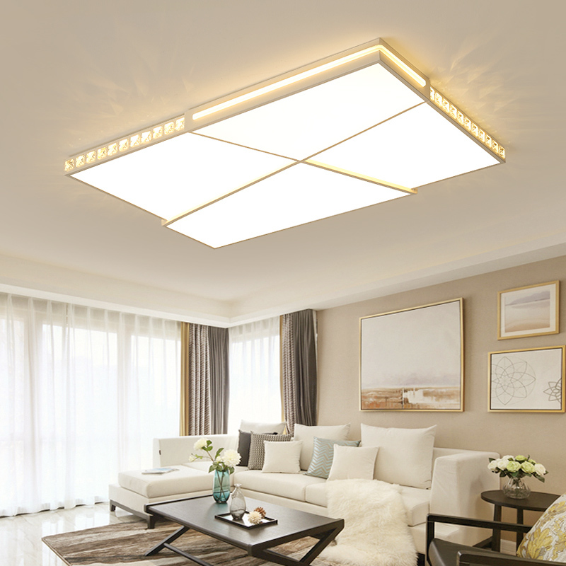 NEO Gleam Ultra thin Surface Mounted Modern Led Ceiling Lights lamparas de techo Rectangle Crystal Square