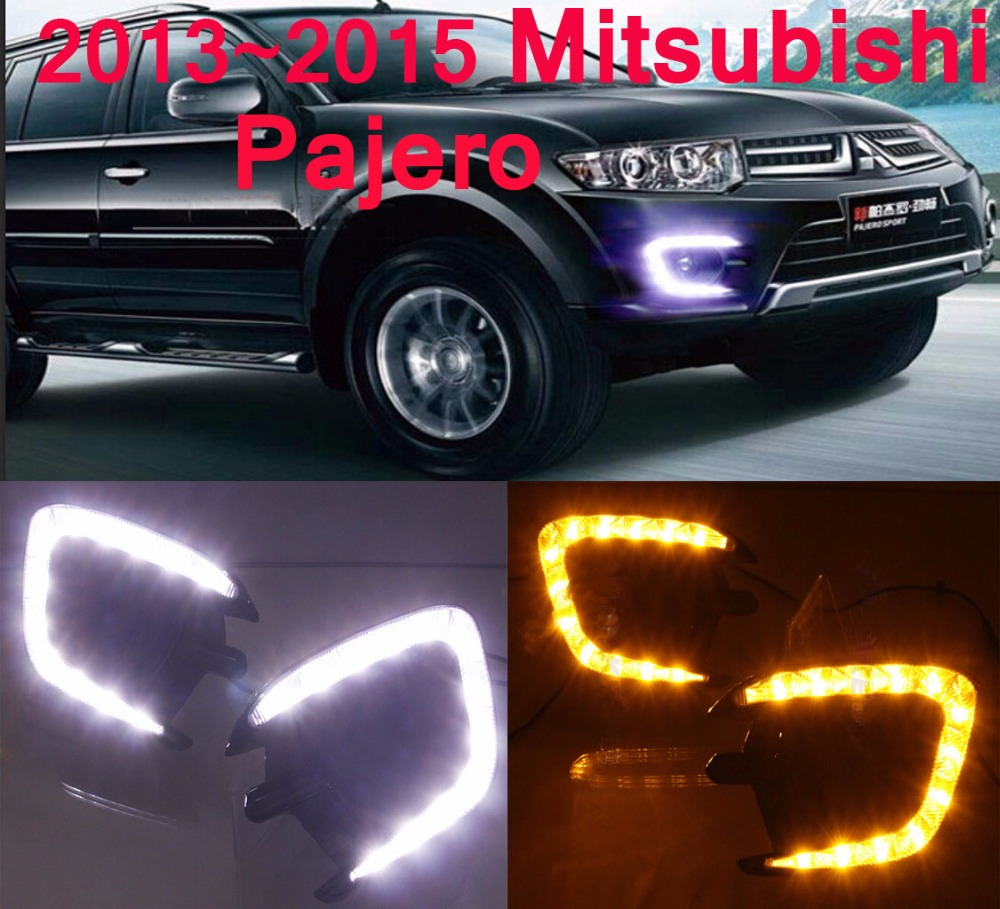 Mitsubish Pajero daytime light;2010~2012/2013~2016, Free ship!LED,Pajero fog light,Outlander,Pajero montero стоимость