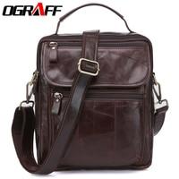 OGRAFF Bag Men Genuine Leather Men Messenger Bags Handbags Famous Brand Designer Briefcases Leather Crossbody Bags
