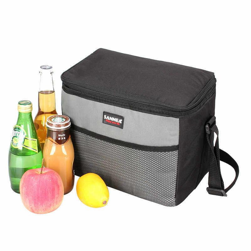 9.5L Oxford papel de aluminio caja de picnic bolsa enfriadora de hielo bolsa térmica de comida leche aislado bolso de hombro bolsa de aislamiento de vehículo