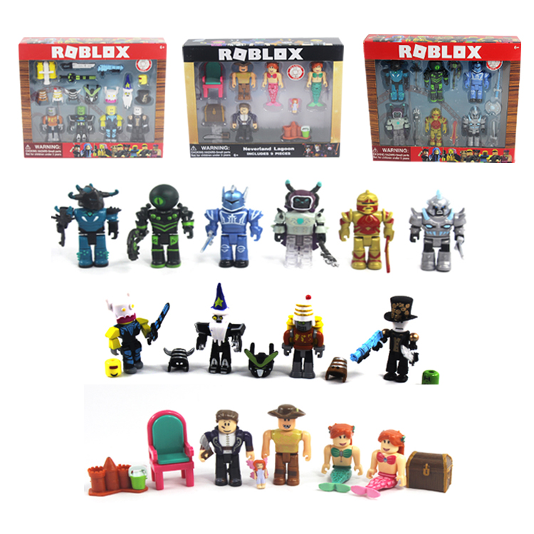 16 Sets Roblox Figure jugetes 2018 7cm PVC Game Figuras Roblox Boys Toys  for roblox-game