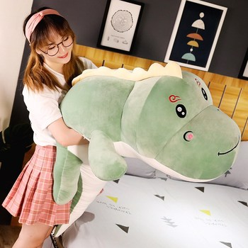 New Big Size Long Lovely Dinosaur Plush Toy Soft Cartoon Animal Dinosaur Stuffed Doll Boyfriend Pillow Kids Girl Birthday Gift 5