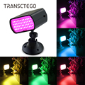 48 светодиодный RGB сценический светильник стробоскоп вспышка звуковой светильник s светодиодный лазерный светильник рождественские светил...