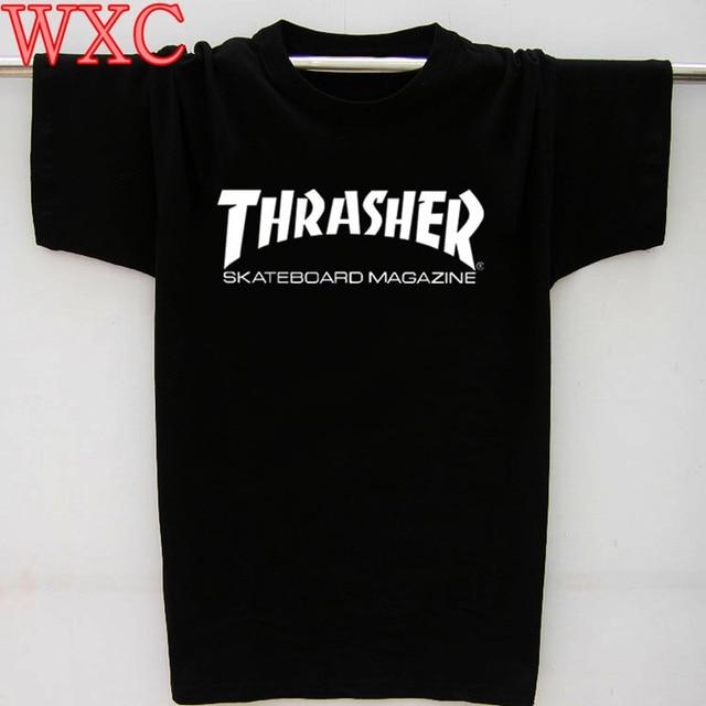 Thrasher T Shirt Women Flame Blaze Thrasher T-shirts Magazine Hip Hop Trasher Street Wear skateboards Hip Hop Tops Harajuku WXC