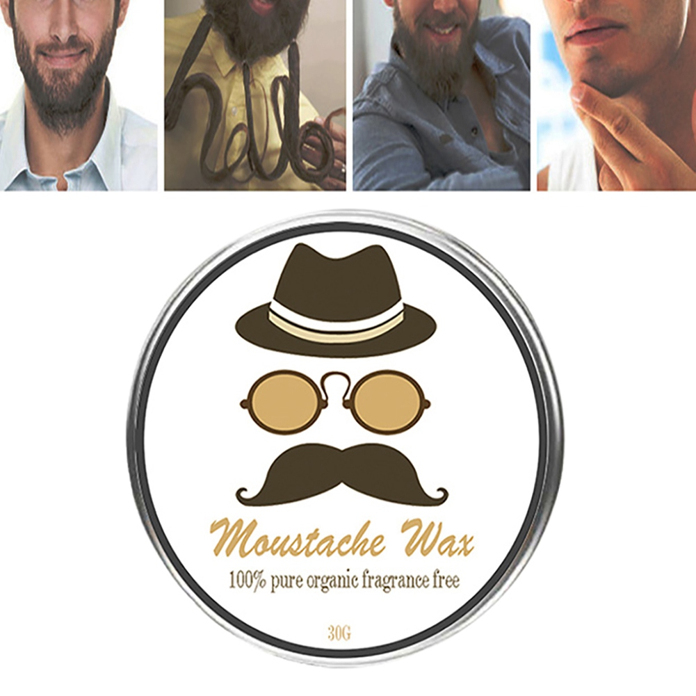 30g Natural Conditioning Soft Beard Wax Hair Loss Products Moisturizing Smooth L