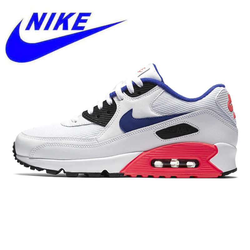 innovative design 8d1d9 19fcb NIKE AIR MAX90 Men s and Women s Running Shoes,White   Pink, Wear Resistant  Non