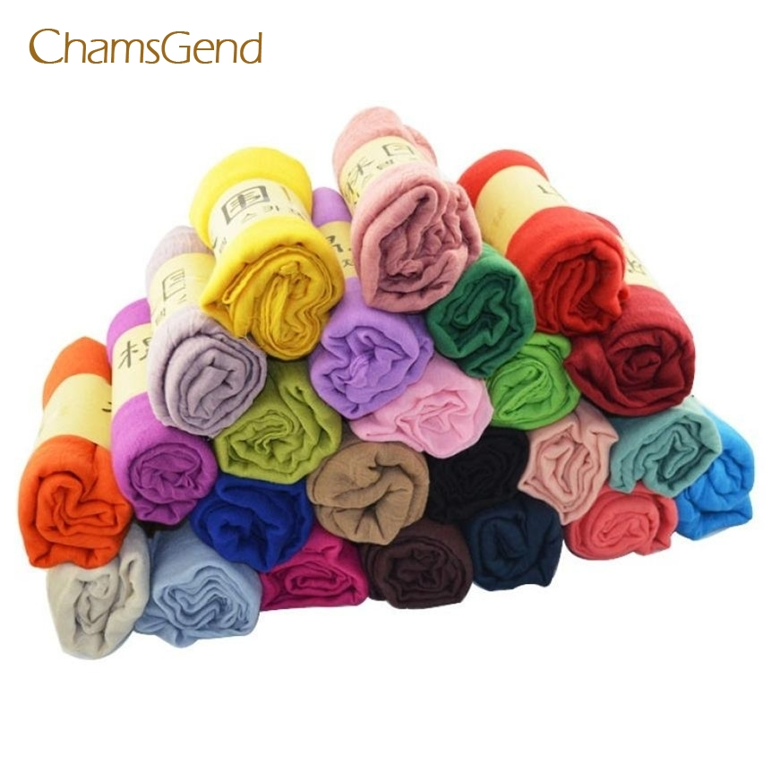 CHAMSGEND Drop Shipping 2017 New Fashion Very Popular Women Cotton Linen Long Candy Colors Soft Scarf Wrap Shawl Scarves JUN23