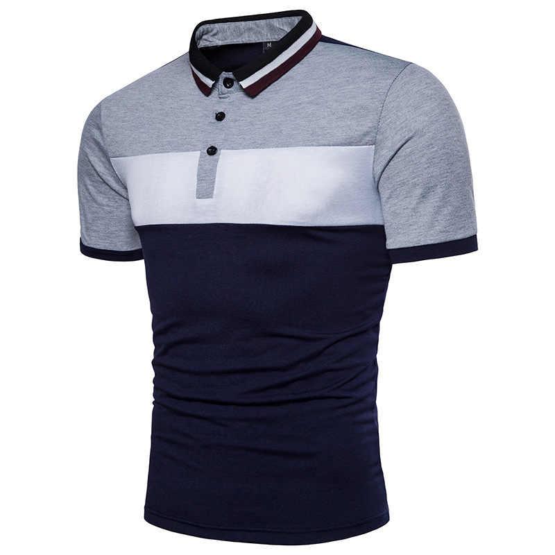 Модная Летняя мужская рубашка поло с коротким рукавом, новинка 2018, брендовая, хит, дышащая, цветная, поло, Homme, повседневная, приталенная, Camisa Polo Masculina