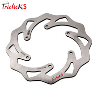 Triclick 220mm Motorcycle Rear Brake Disc Rotor Wavy Brake Disks Steel Motorbike Car styling Brake Disk For KTM EXC SX SXF 03 12