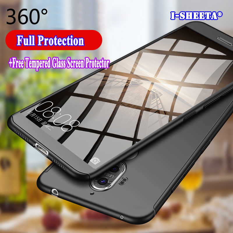 360 Degree Full Protective Cases For Huawei Mate 8 9 10 Lite 10 9 Pro Slim Hard Case + Free 9H Tempered Glass Screen Protector