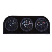 Universal 52mm 3 in1 Precisão Auto Caminhão Do Carro Sensor de Temperatura Da Água do Calibre Voltímetro Medidores De Pressão De Óleo Triplo Kit para VW BMW
