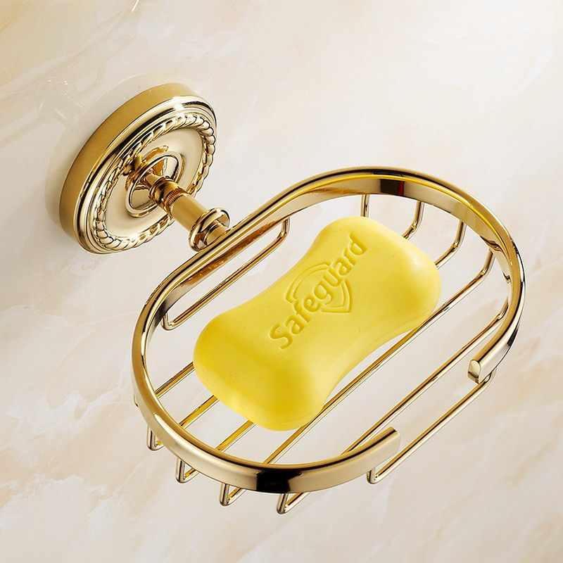 Do montażu na ścianie mydelniczki złoty mydelniczka kosz na mydło łazienka akcesoria sprzęt kąpielowy KD769