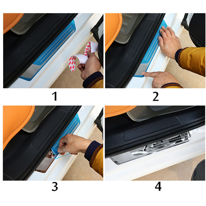 Image 5 - Auto Door Sill Scuff Plate Guard Welcome Pedal Cover Stickers Exterior Trim For Mazda CX 3 CX3 2017 2018 Car Styling Accessories-in Chromium Styling from Automobiles & Motorcycles
