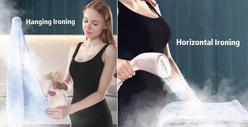 Handheld Steam Iron Garment Steamer For Clothes Ironing Travel Friendly 9