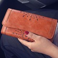 Fashion Hollow Women PU Leather Purse Promotion Card Holder Coin Bag