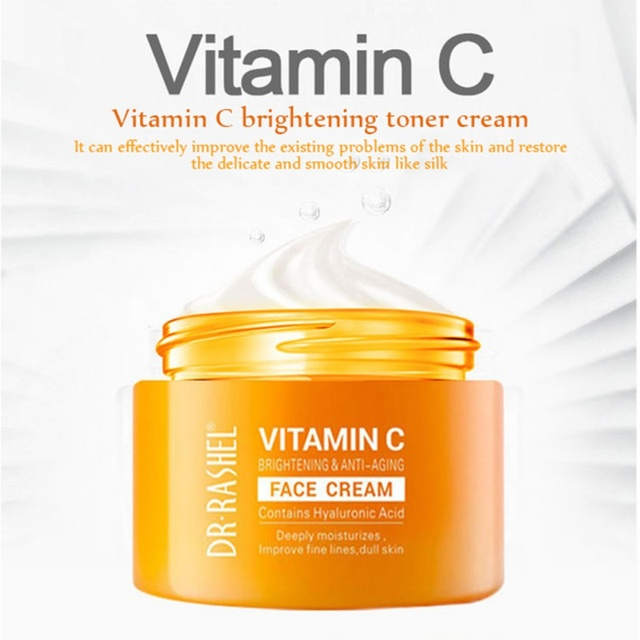 VC Facial Cream With Hyaluronic Acid Paraben Free Fragrance Free Face Cream  Anti-oxidation Anti-aging Skin Firming New