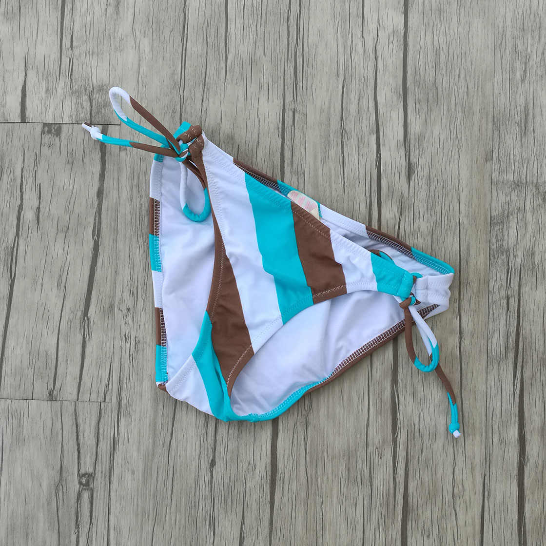 Femmes Triangle bleu rayures Bikini Maillot De Bain brésilien Push Up Maillot De Bain sexy fille Secret Maillot De Bain