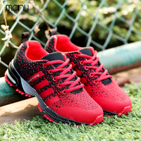 Fashion Unisex Sneakers Brand Trainers 2017 Men Casual Shoes Mixed Color Flat With Female Fly Line Breathable Walking Shoes