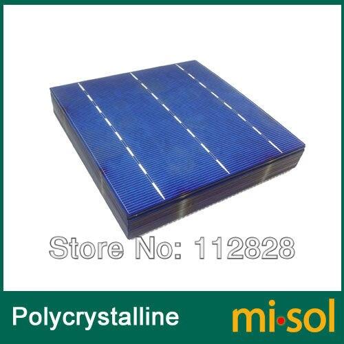 200 pièces 4.3 W POLY cellule 6x6 pour panneau solaire bricolage, cellule solaire à cellules polycristallines