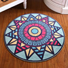 Rome Style Round Bath Mats Carpet 1 PCS 3 Colors Anti Slip Bathroom Mat Set Bathroom