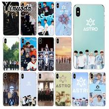 Yinuoda KPOP ASTRO Heart shaped K-POP Newly Arrived Transparent Cell Phone Case for iPhone X XS MAX 6 6S 7 7plus 8 8Plus 5 5S XR(China)
