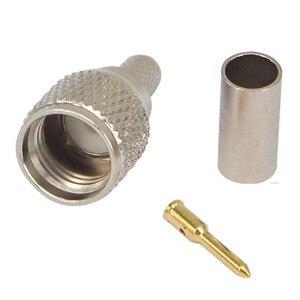 Image 4 - 100 stück RF stecker mini UHF männlichen für RG58 RG142 LMR195 kabel adapter