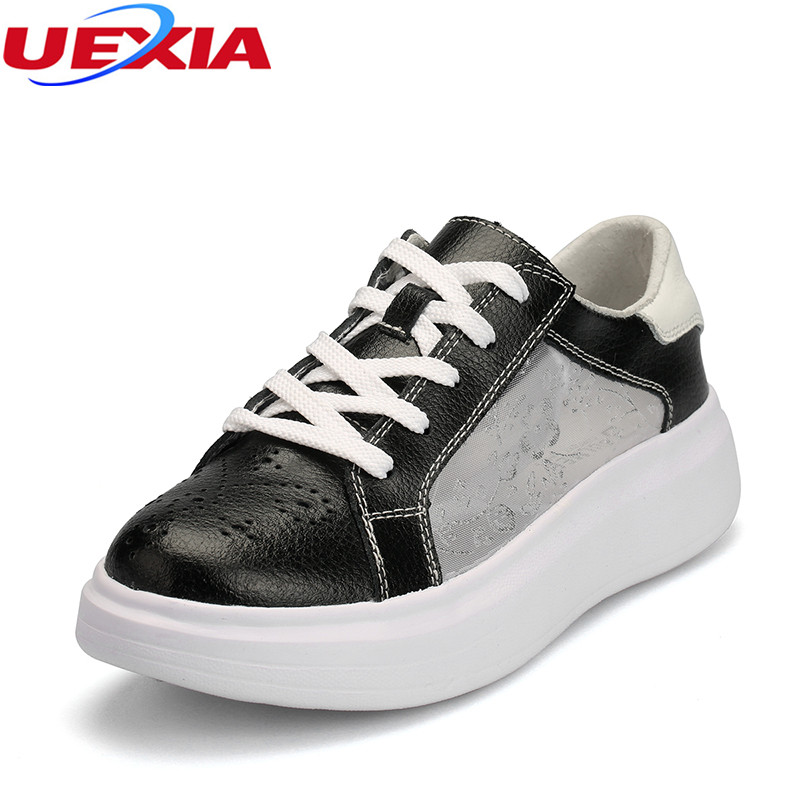 UEXIA Summer Women Loafers Fashion Round Toe Ladies Flats Hollow Breathable Increase Shoes Woman Sweet Flats Casual Footwear flats woman shoes summer autumn fashion casual women shoes comfortable round toe loafers shoe plus size 35 40 7d46