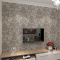 HANMERO 3D Flower Embossed Waterproof Wall Paper Roll Livingroom sofa tv Desktop WallPaper Mural Papel De Parede 0.53*10m/roll