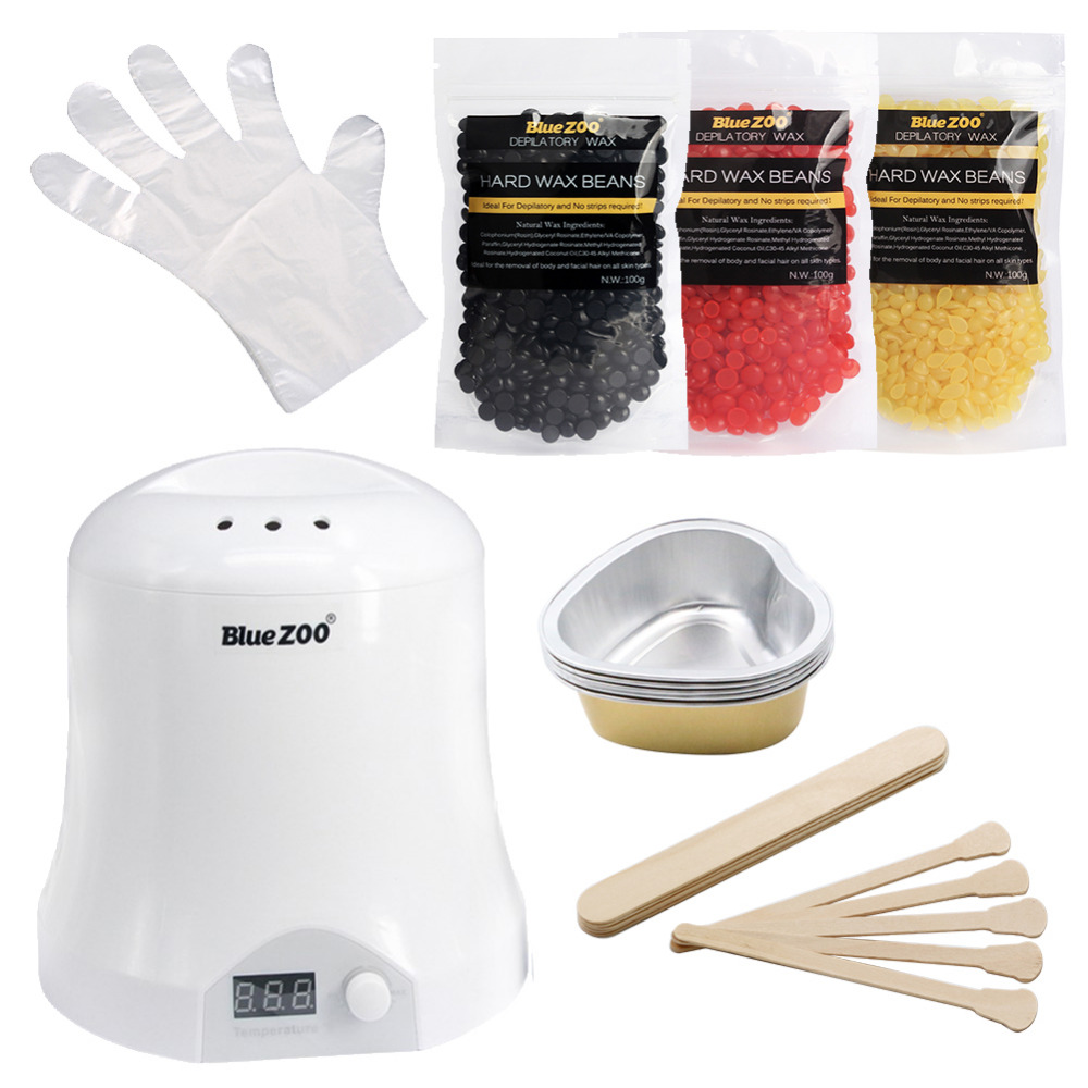 Depilation Wax  Machine Hair Removal  Waxing Hot Wax Heater 1000CC Professional  Whole Body Hair Remover Set  Beauty Tools depilation wax beans no strip depilatory home and beauty tools hair remover wax heater waxing kit hair removal set with tools