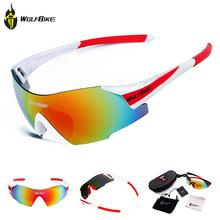 WOLFBIKE New UV400 Cycling Glasses Outdoor Sports Bicycle Glasses Bike Sunglasses Men Women gafas bicicleta mtb Goggles Eyewear