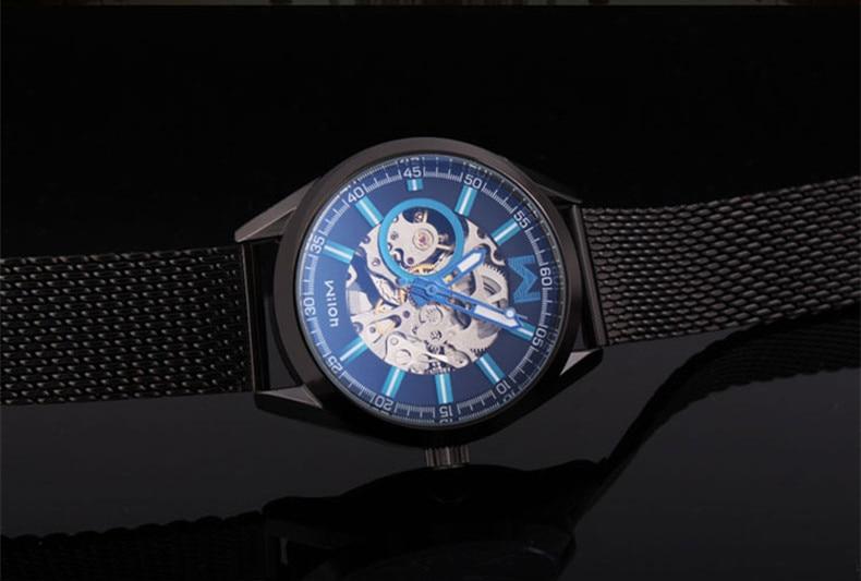 Fashion Brand Дизайнер Ерлер Skeleton Automatic Watches - Ерлердің сағаттары - фото 4