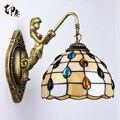 Mode tiffany Mittelmeer Meerjungfrau spiegel licht mode rustikalen wand lampe bett lampen-in Wandleuchten aus Licht & Beleuchtung bei