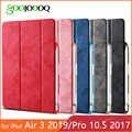 Voor iPad Pro 10.5 Case met Potlood Houder voor iPad Air 3 Case 2019 Cover PU Leather Soft Back Funda coque voor iPad Air 2019 Case