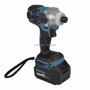 """Image 3 - Electric Rechargeable cordless and brushless 6.35mm 1/4"""" impact driver drill with two 18V 4.0Ah Lithium ion Battery"""