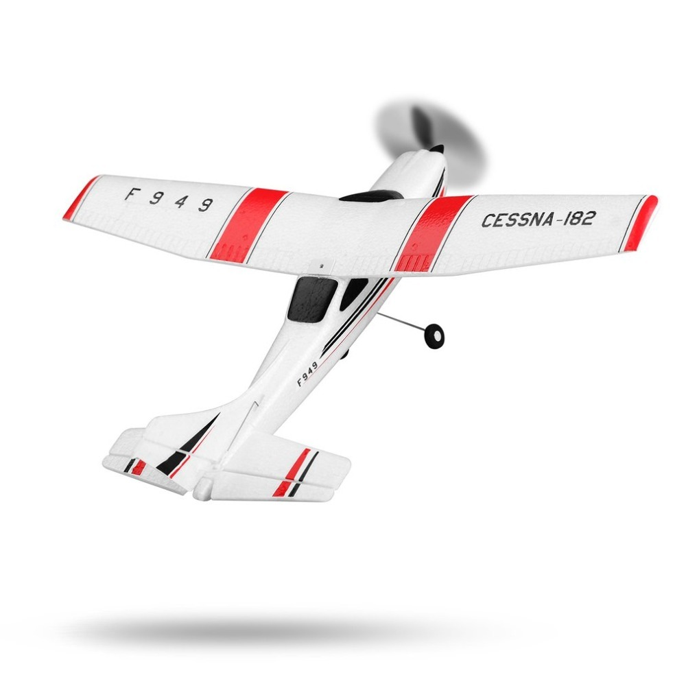 F949 2.4GHz Radio ControlX 3 Channel  RC Airplane Fixed Wing RTF CESSNA-182 Plane Outdoor Drone Toy for Ages 14+ Children