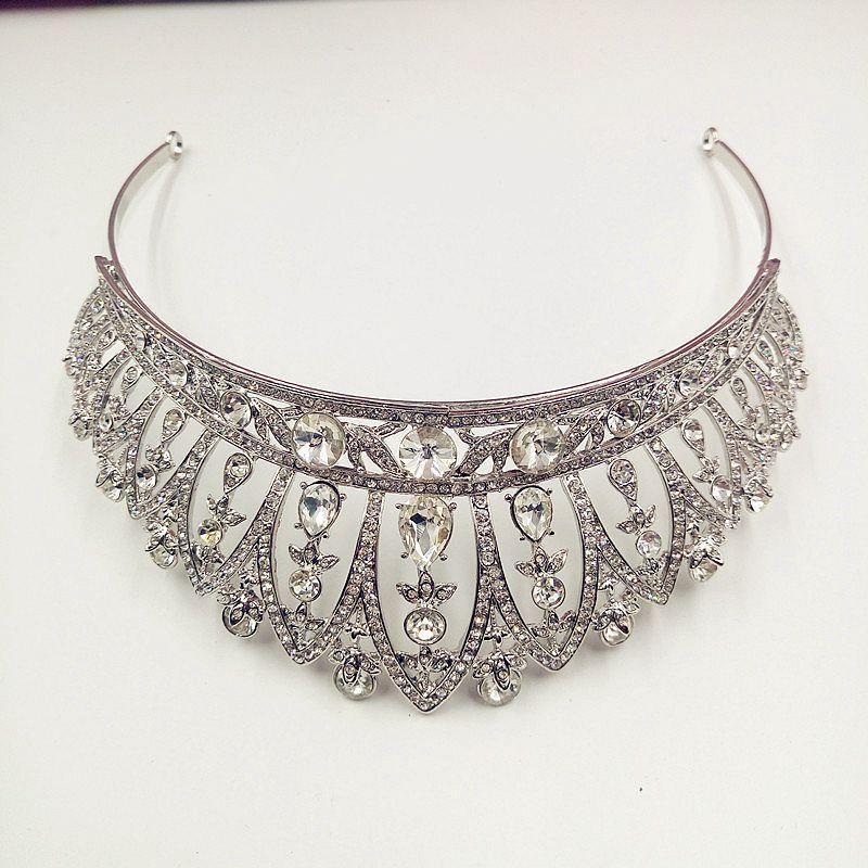 Princess Wedding Crystal Beauty Pageant Crown Rhinestone Tiara Wedding Hair Accessories Prom Crowns Party Headband все цены