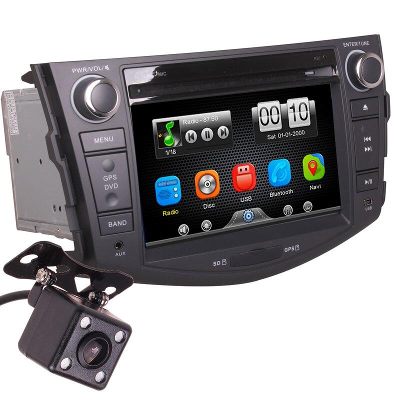 2Din автомобиль в тире DVD Media Player Радио Bluetooth Автомагнитолы центры с обратным Камера для Toyota RAV4 2007 2011 (без gps)