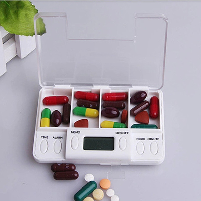 4 Grid Electronic Medicine Box with Alarm 2
