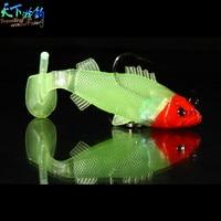 安い3ピース/ロット65ミリメートル/8グラム柔らかい餌ソフト発光リードヘッド餌治具釣りwobblersラバーシリコンルアーサビキleurreペシェdur