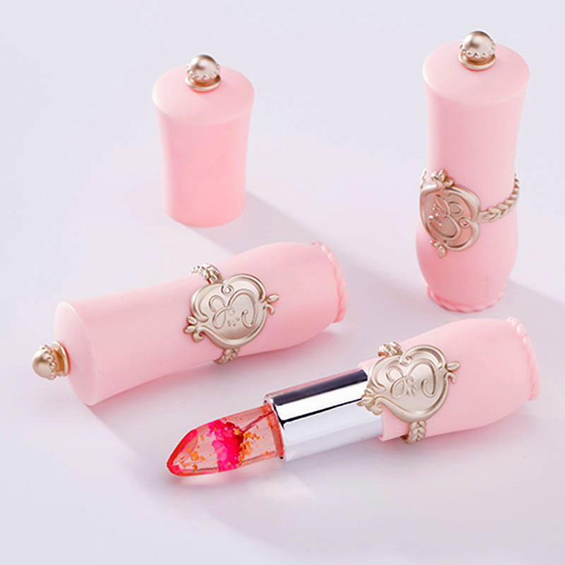17 Cute Makeup For Women Pink Brand Lips Cosmetics Long Lasting Moisturize Temperature Color Change Jelly Lipstick With Flower 5