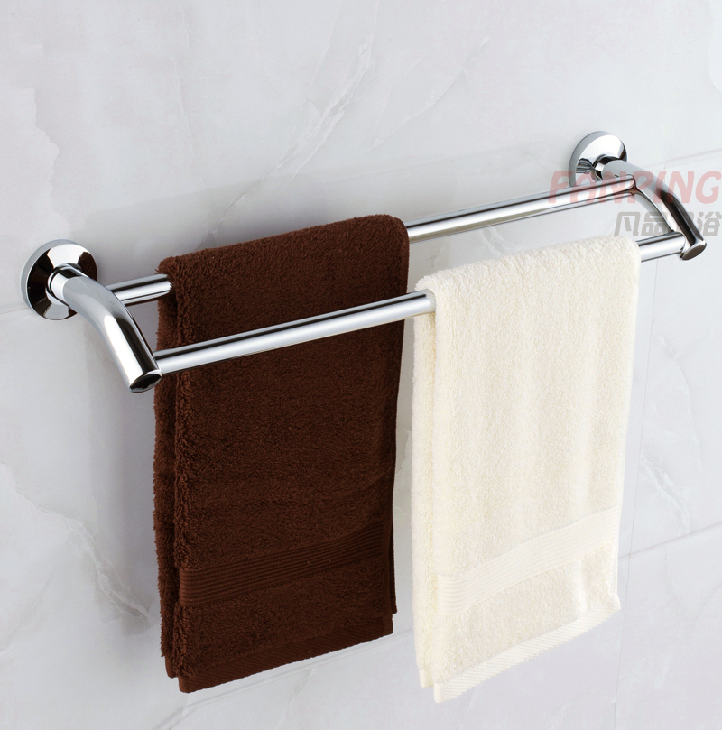 bath towels hanging.  Towels Stainless Steel Double Pole Thicker Bold Bathroom Towel Rack Bar  Hanging Under The Low Shippingin Figurines U0026 Miniatures From Home Garden  With Bath Towels Hanging L
