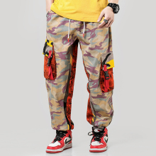 2018 Mens Fashion Splice joggers pants Camo Cargo Men Pants Trousers US Size M-XXXL